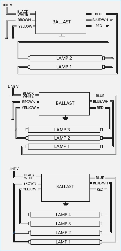 4 Bulb Ballast Wiring Diagram Sample