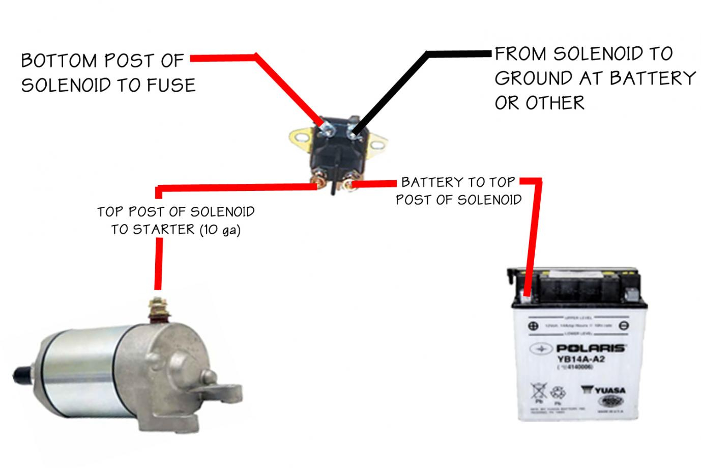 4 pole starter solenoid wiring diagram Download-Starter Solenoid Wiring Diagram For Lawn Mower 1 1-h