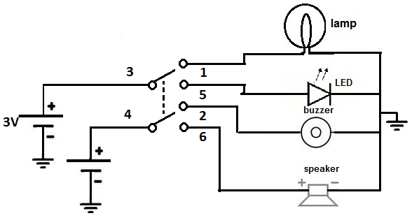 6 pin dpdt switch wiring diagram Collection-DPDT toggle switch circuit 6-d