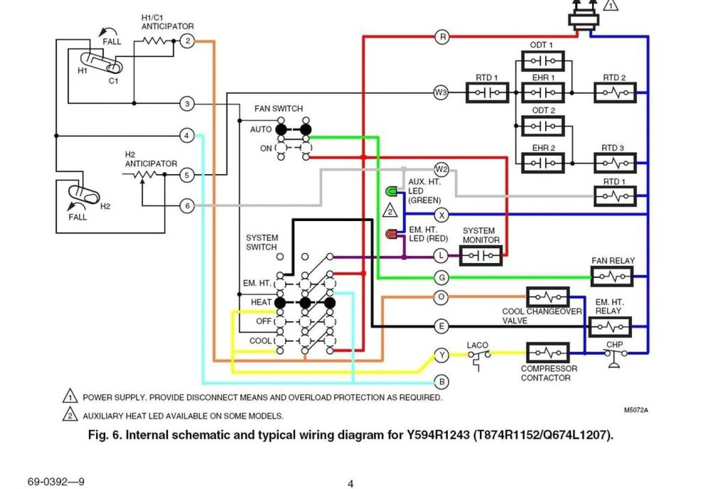 7 Wire Thermostat Diagram - Schematics Online Wiring Thermostats on