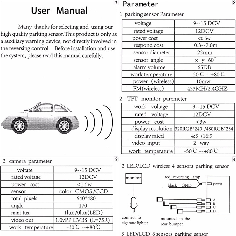 8 parking sensor wiring diagram Download-aeProducttSubject 2-a