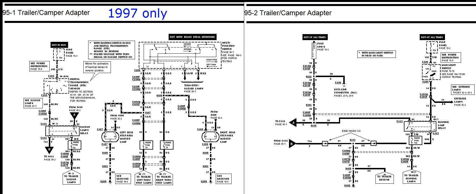 97 f150 trailer wiring diagram gallery
