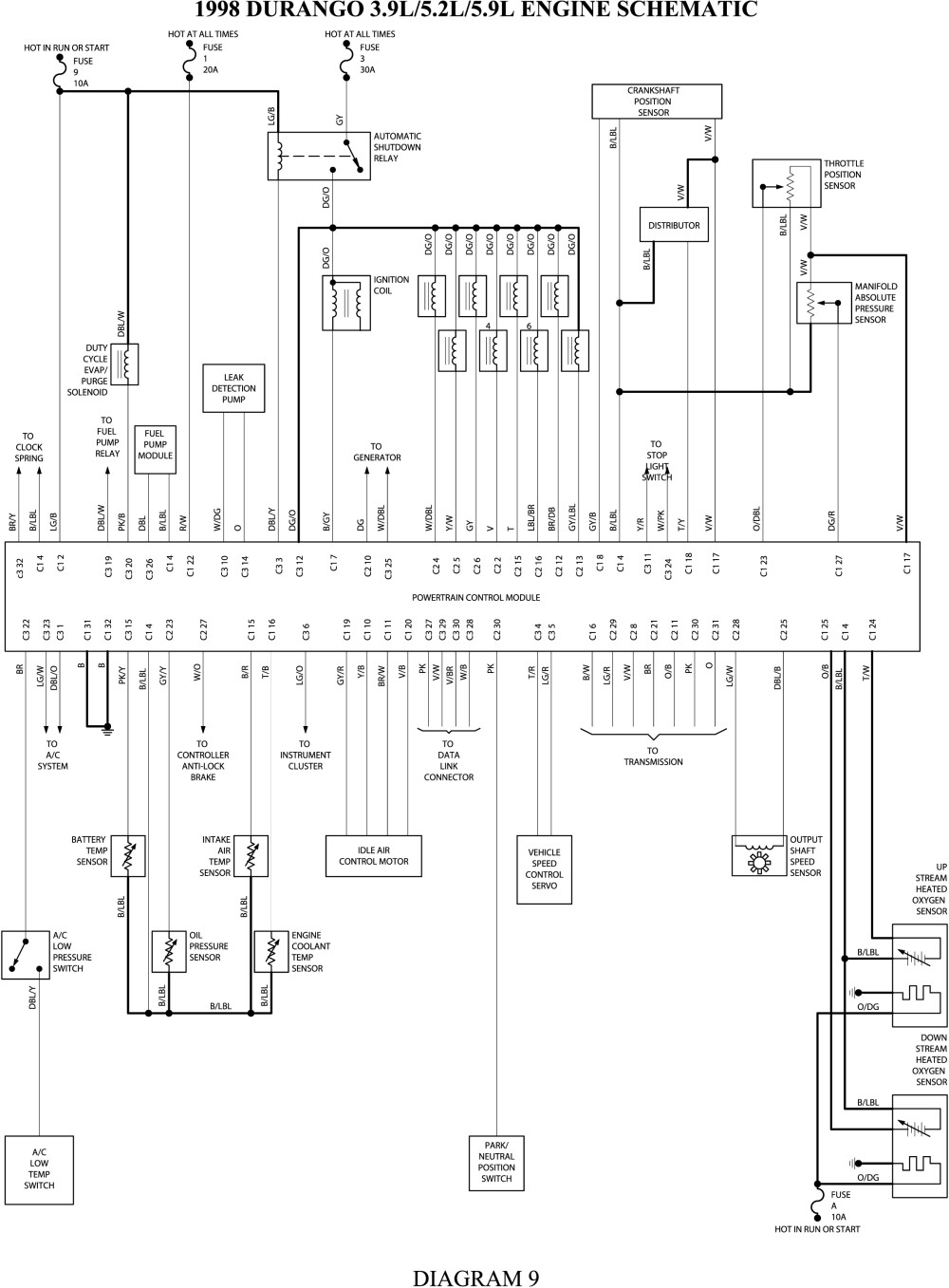 dodge oxygen sensor heater circuit diagrams dodge wiring diagrams