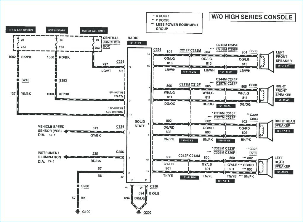 2000 Ford Explorer Radio Wiring Diagram