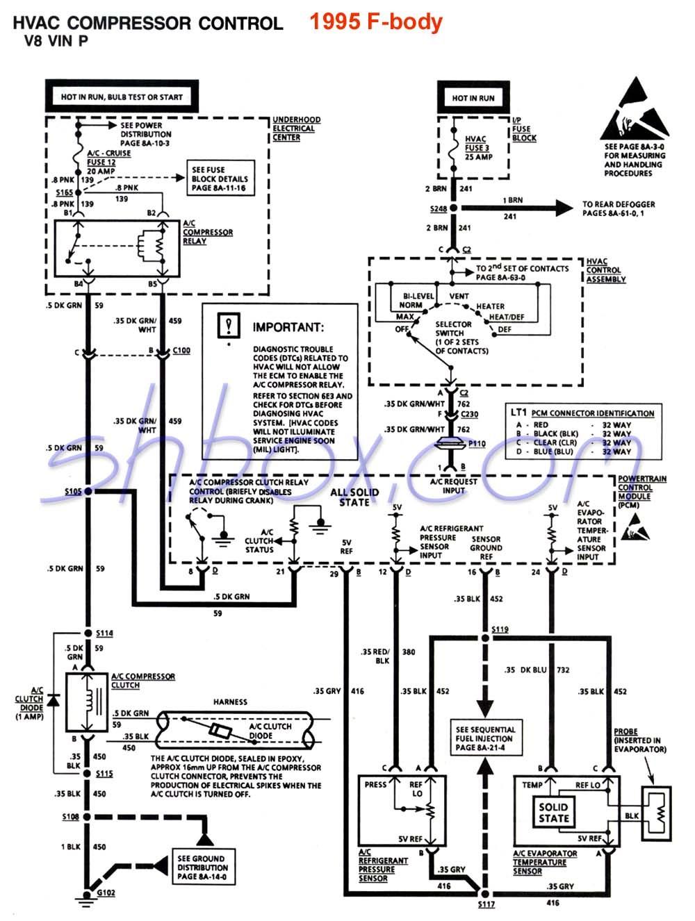 ac compressor wiring diagram Collection-gm hvac diagrams wiring diagram hvac reciprocating pressor diagram 4th gen lt1 f body tech aids 18-d