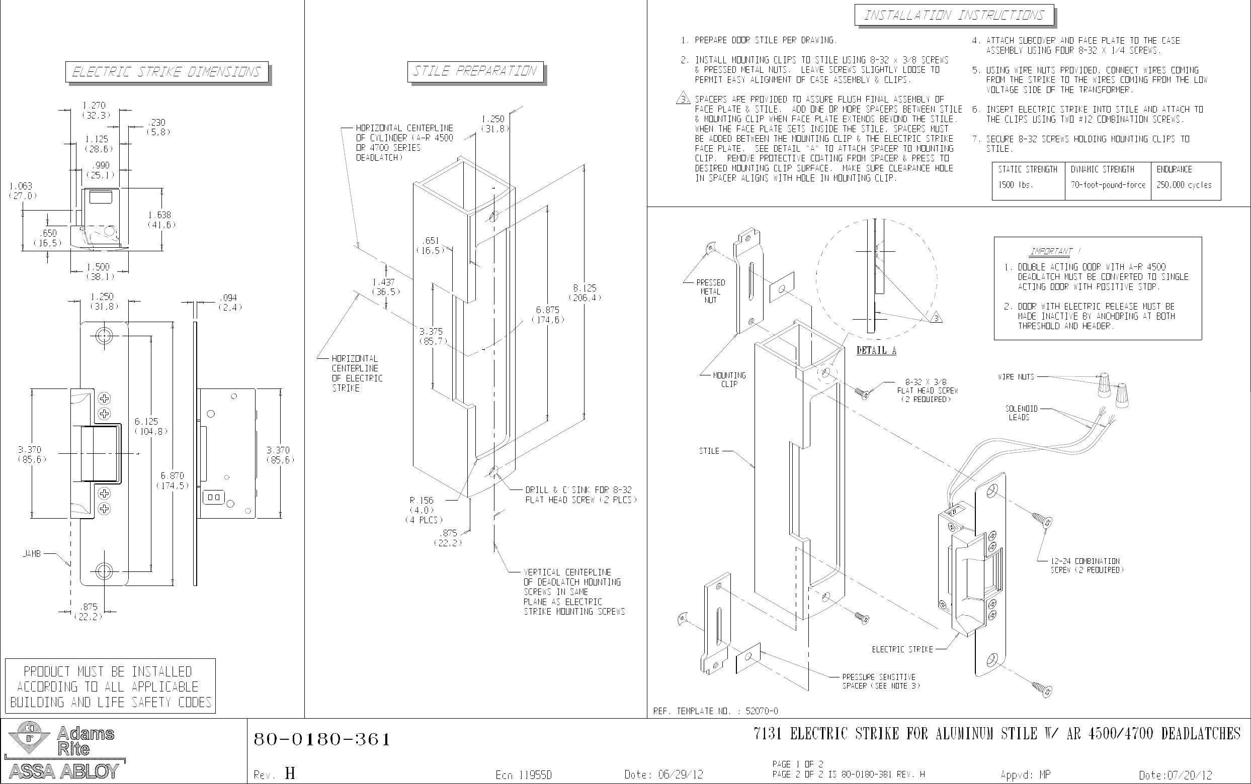 adams rite electric strike wiring diagram collection-adams rite 7131 electric  strike for aluminum stile