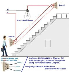 add a phase wiring diagram Collection-two way light switch diagram & Staircase Wiring Diagram 12-n