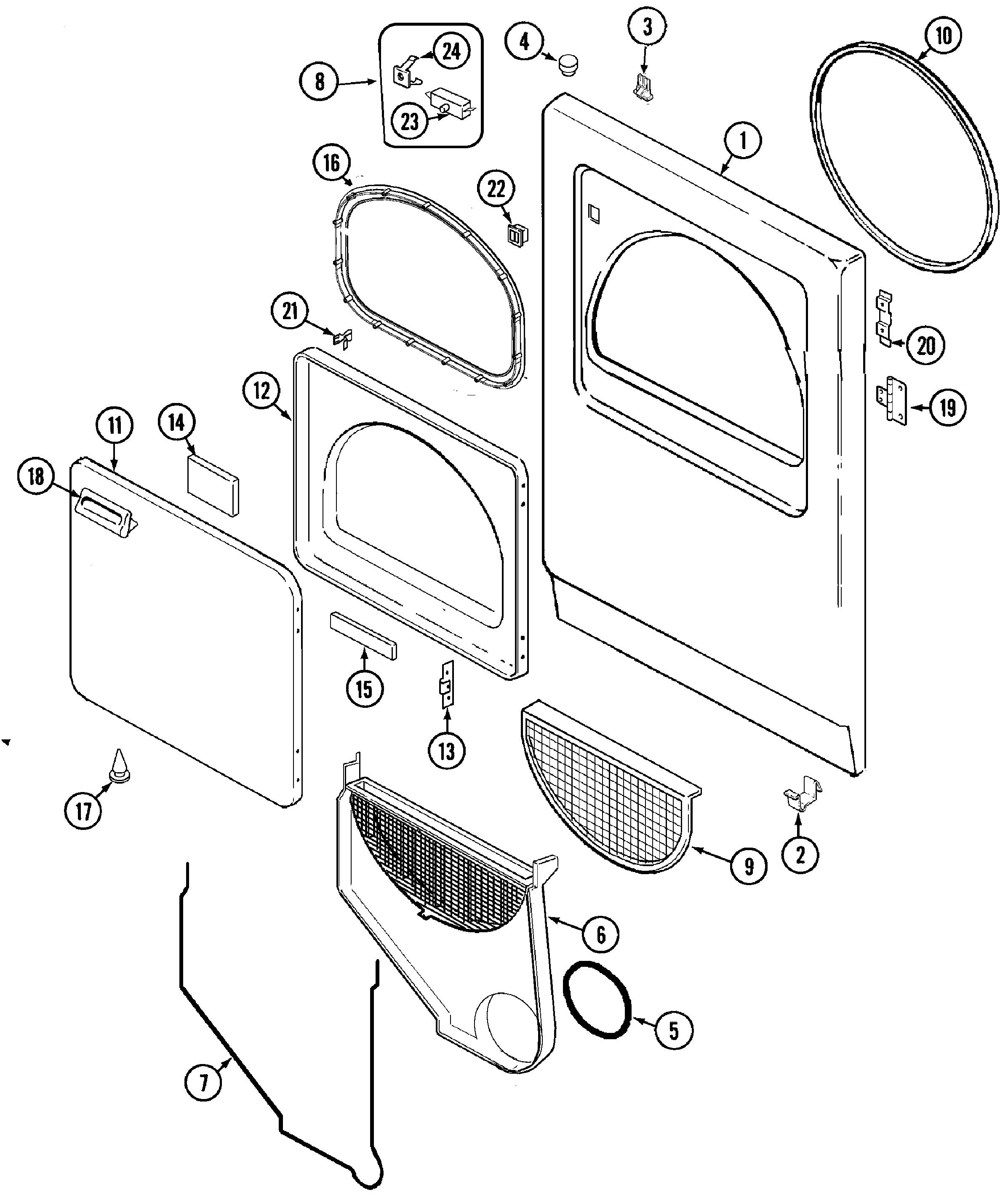 admiral dryer wiring diagram Download-Admiral Dryer Parts Diagram 19-e