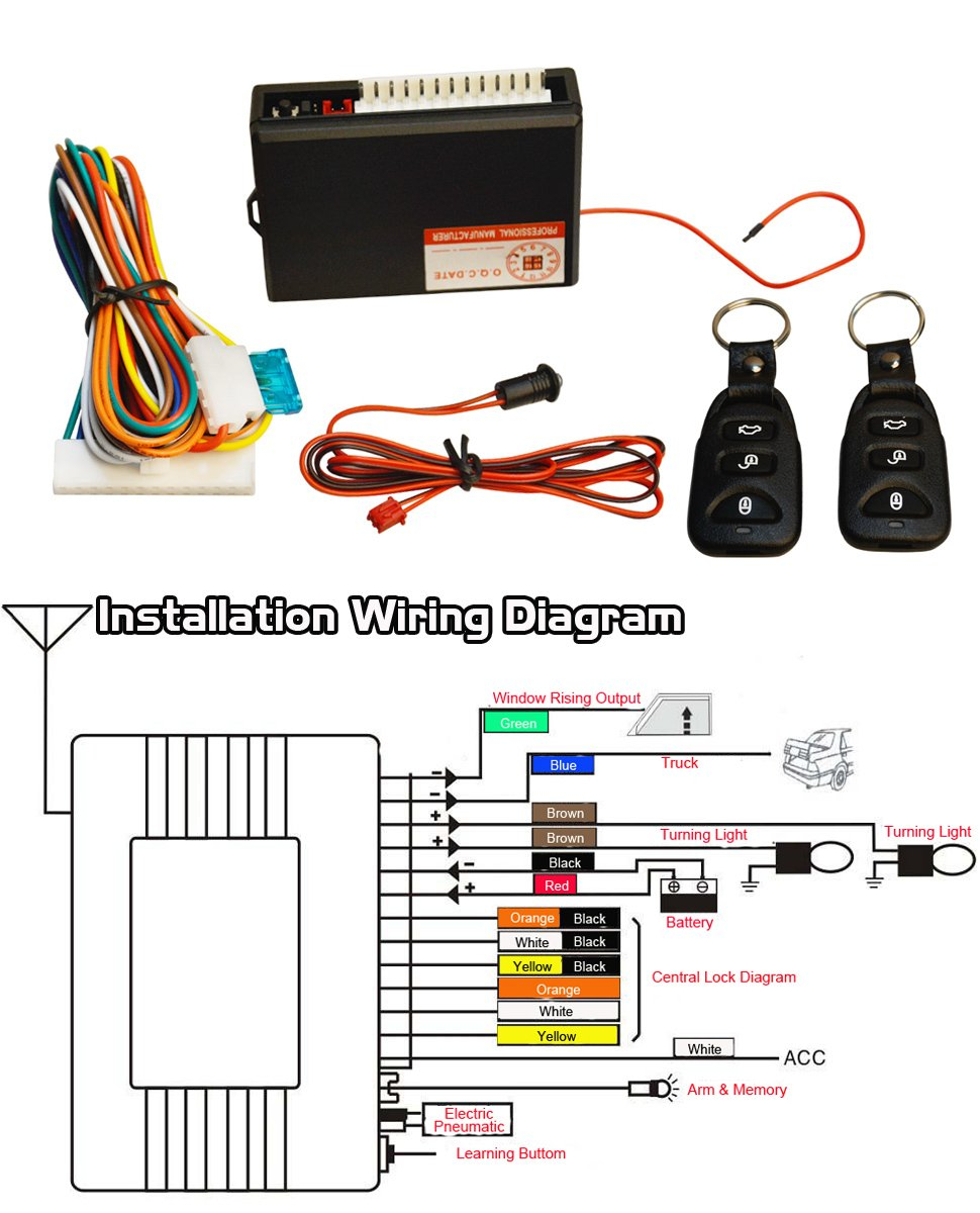 aftermarket keyless entry wiring diagram Collection-FICBOX Universal Car Keyless Entry System 2-l