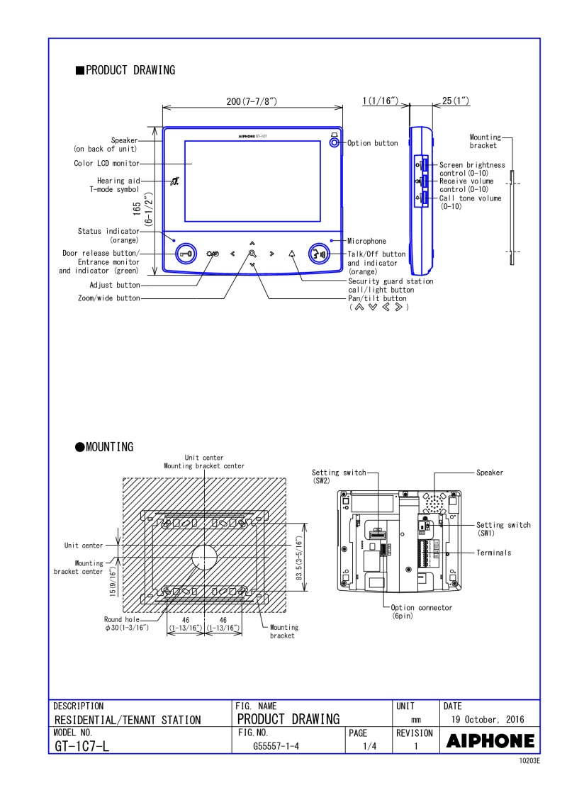 aiphone gt 1c7 wiring diagram Collection-GT 1C7 L Spec Sheet 20-a