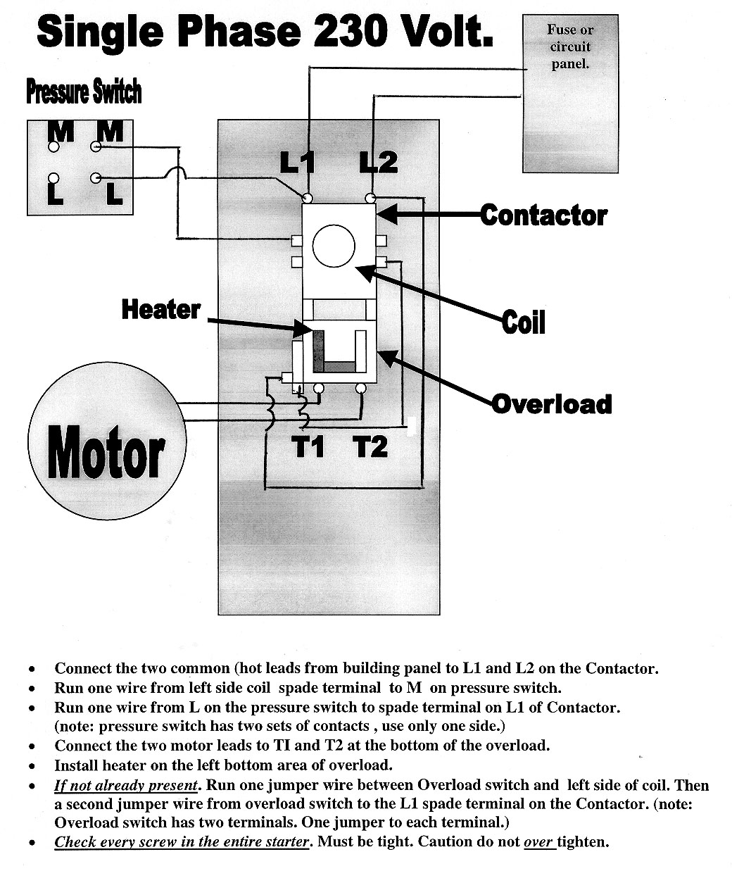 Air Compressor 230v 1 Phase Wiring Diagram - Basic Wiring Diagram •