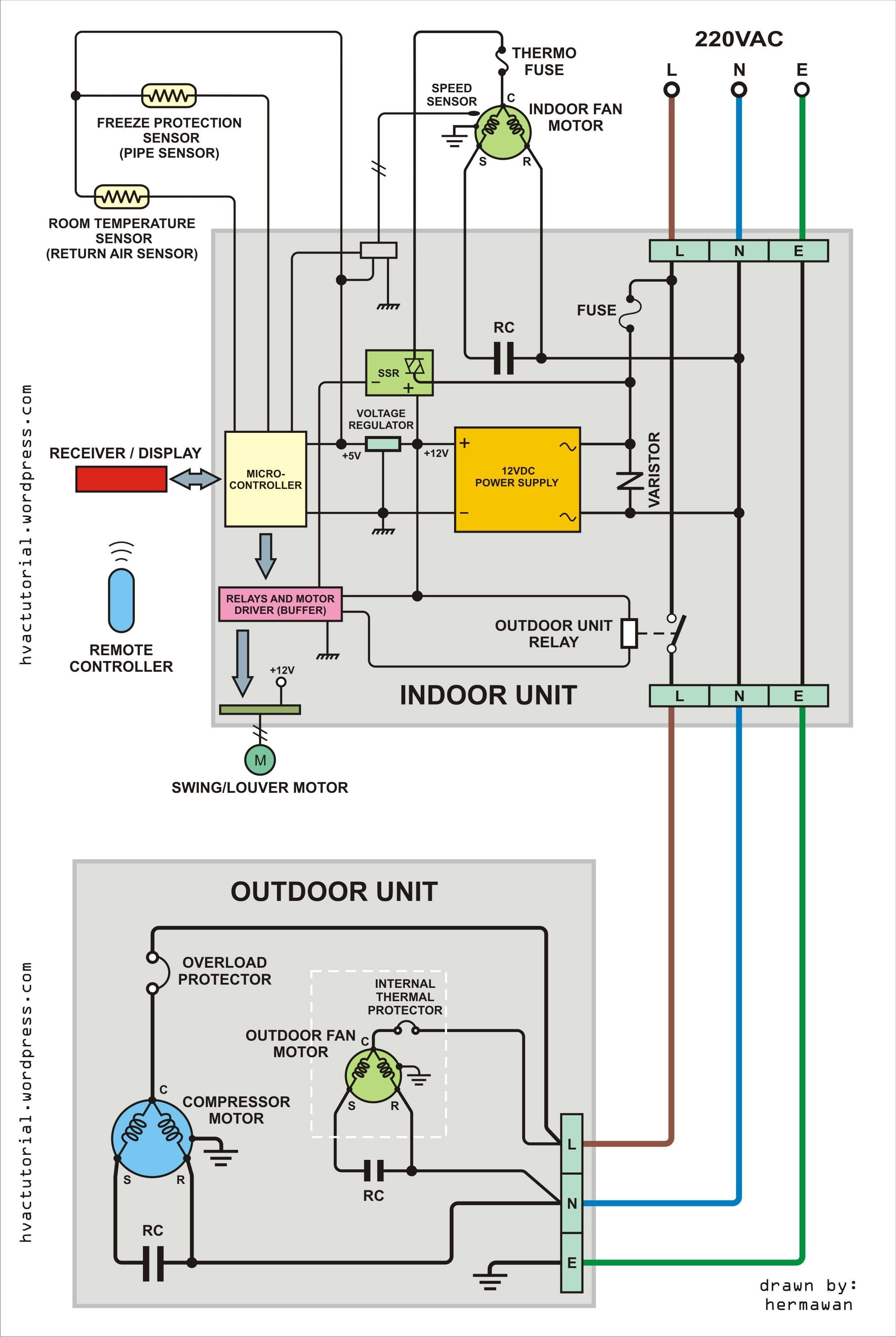 air conditioner wiring diagram pdf Collection-Motor Inverter Wiring Diagram Best Split Air Conditioner Wiring 3-f
