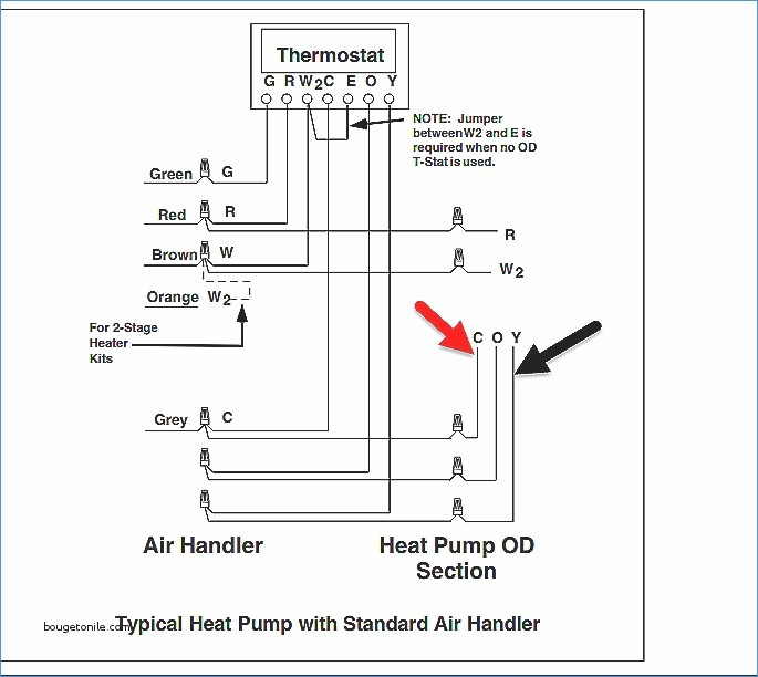 on 4 wire thermostat wiring diagram air conditioner