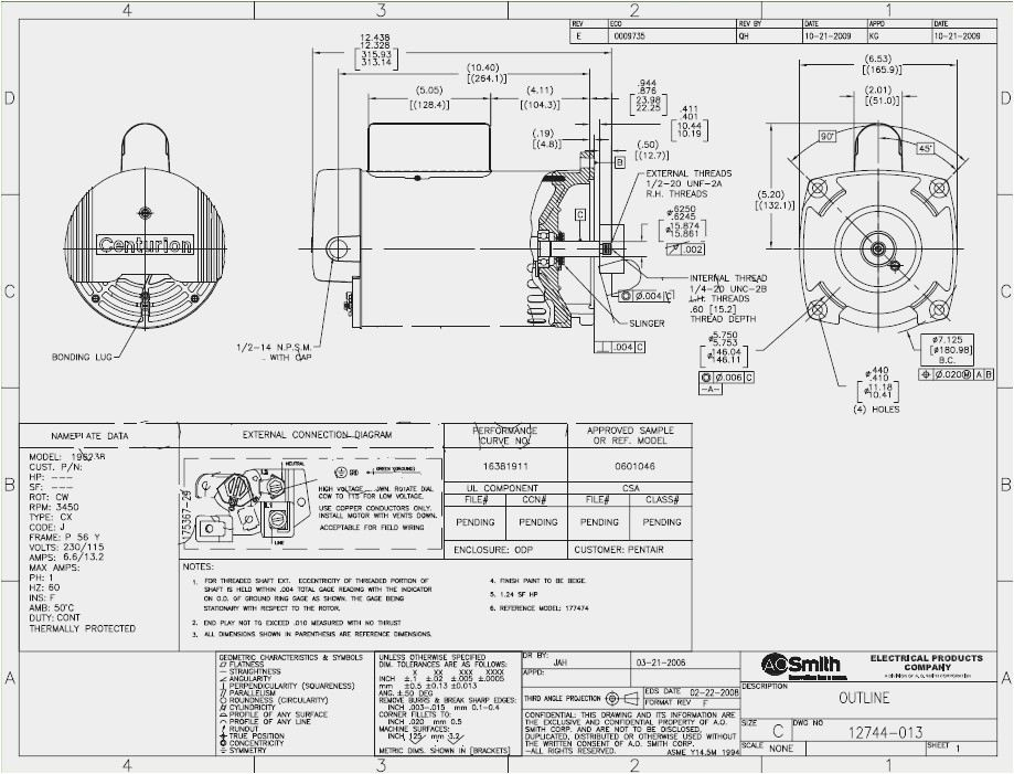 ao smith 2 speed motor wiring diagram