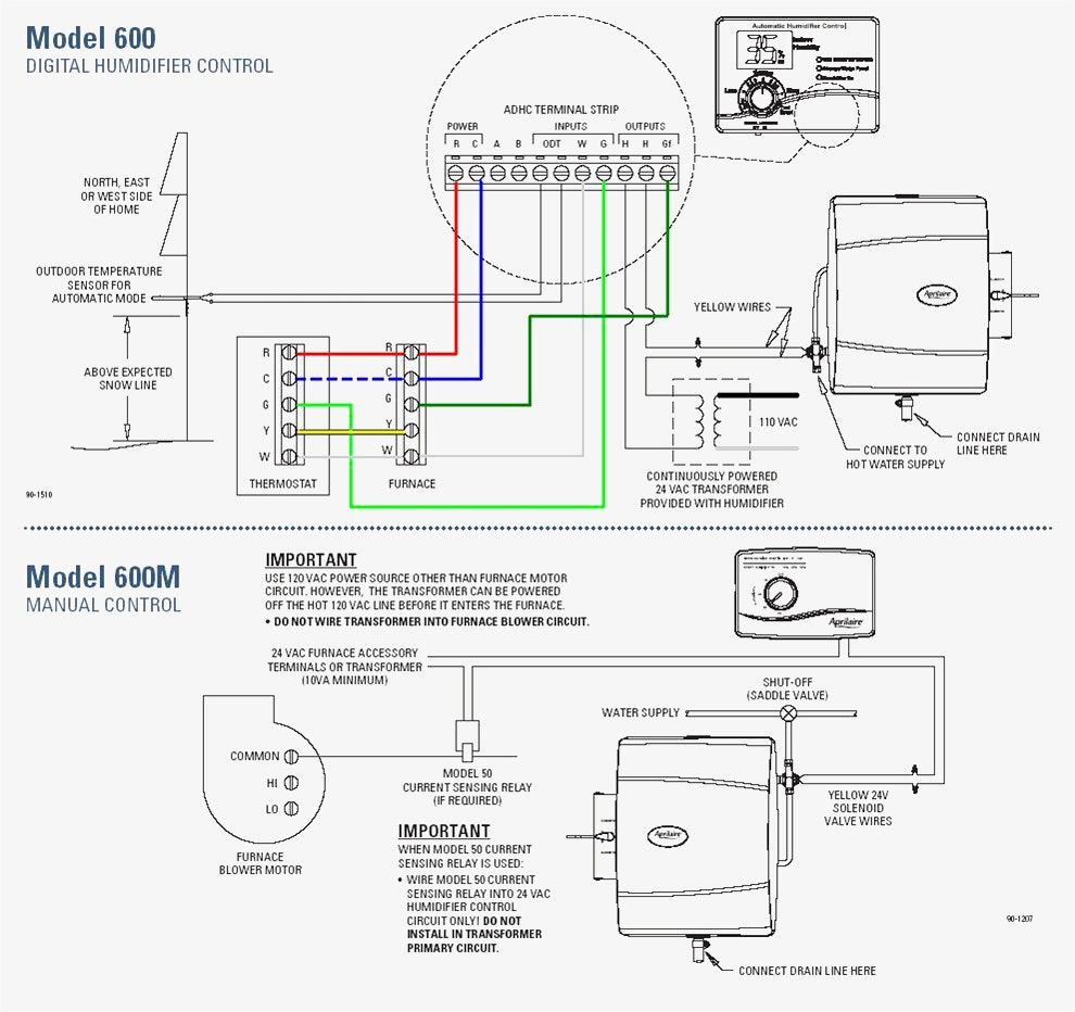aprilaire 600 humidifier wiring diagram Collection-Wiring Diagram For Aprilaire 6 17 6-d