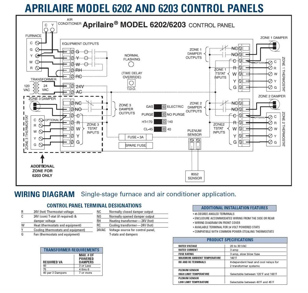 aprilaire 6202 wiring diagram Download-Wiring Diagram For Zone Heatingystem Aprilaire And Hot Water 8-c