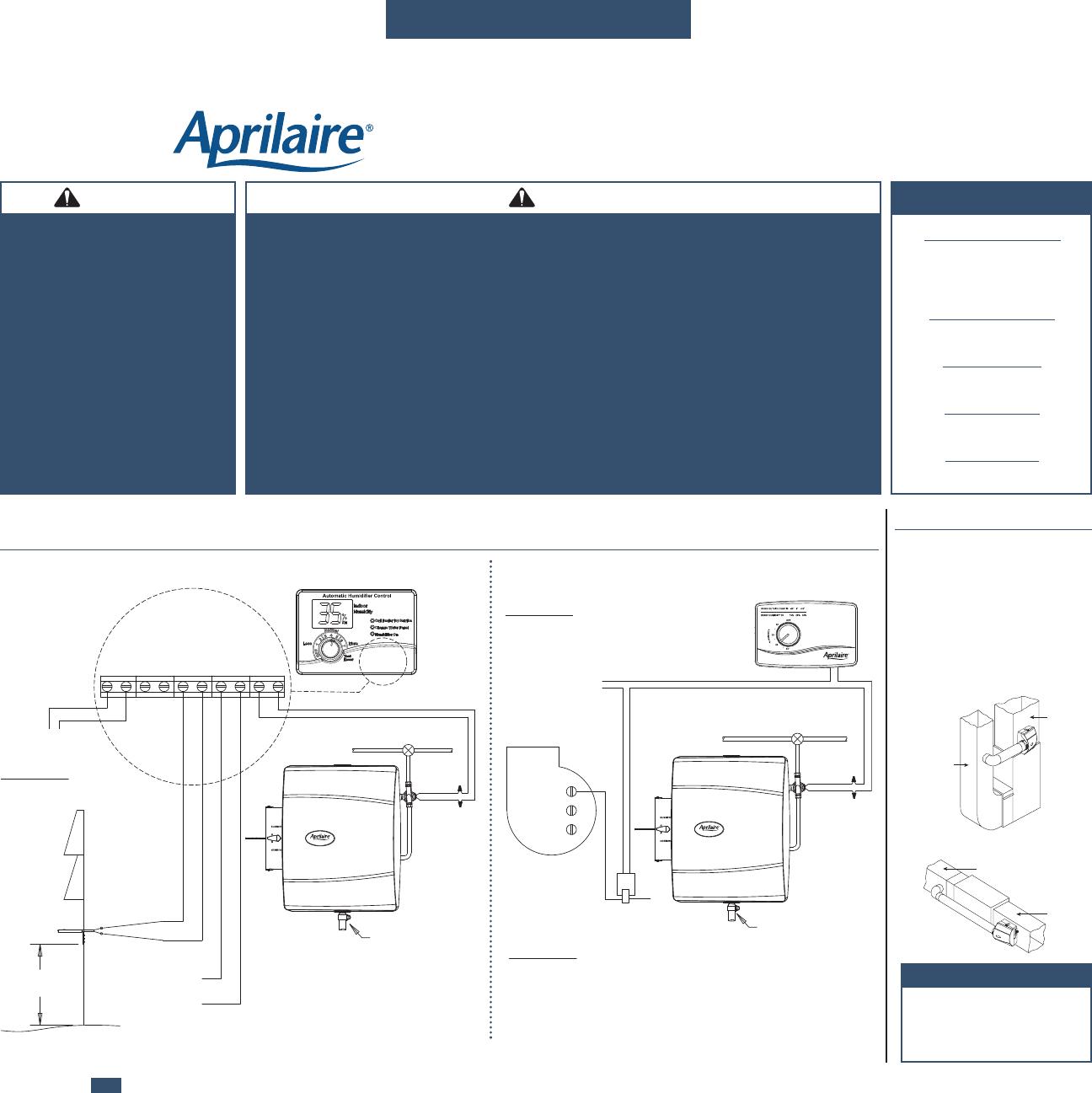 Aprilaire Humidifier Wiring Manual - Custom Wiring Diagram •