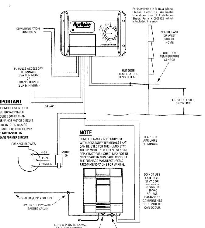 aprilaire model 600 wiring diagram sample