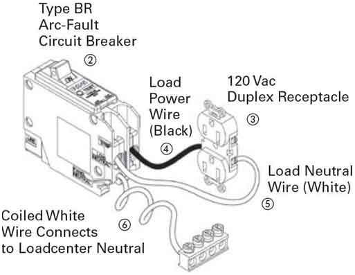 arc fault breaker wiring diagram collection