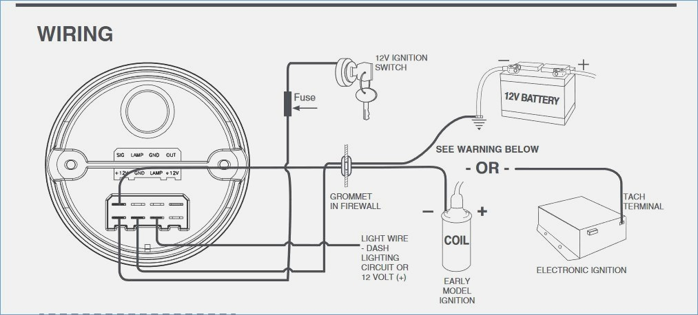 car tachometer wiring trusted wiring diagram rh dafpods co VDO Oil Temp Wiring Diagrams VDO Tachometer with Hour Meter Wiring Diagram