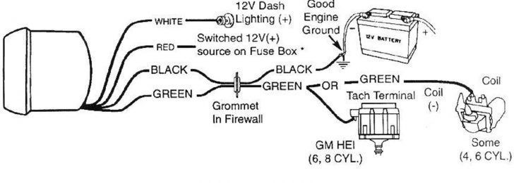 autometer tach wiring diagram Collection-Autometer Tach Wiring Hei Radio Diagram • 7-s