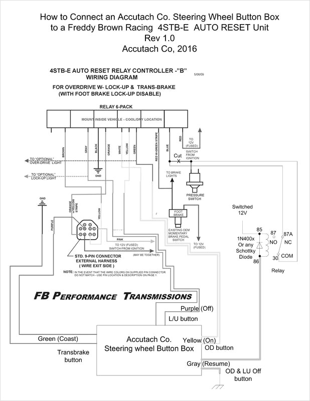 axxess steering wheel control interface wiring diagram Download-Steering Wheel Wiring Diagram with How to Control An Fb Od Lu and Transbrake Relay Controller 3-n