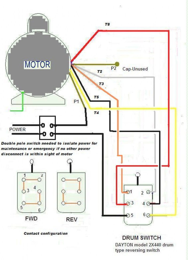 240v Single Phase Motor Wiring Diagram | Wiring Diagram on