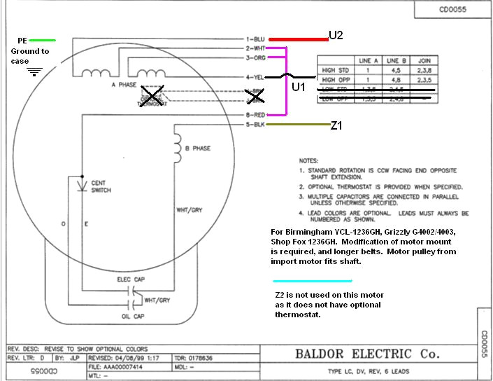 baldor industrial motor wiring diagram Collection-Baldor Motor Wiring Diagram Diagrams Schematics Striking Electric 16-g