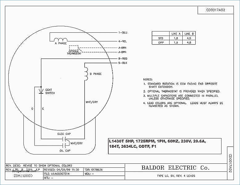 baldor motor capacitor wiring diagram Collection-Baldor Motor Capacitor Wiring Diagram Fo 19-h
