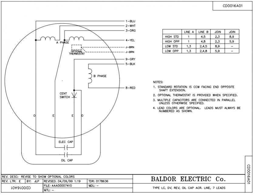 Wiring Diagram Single Phase Images Of Baldor Industrial Motor Wiring on