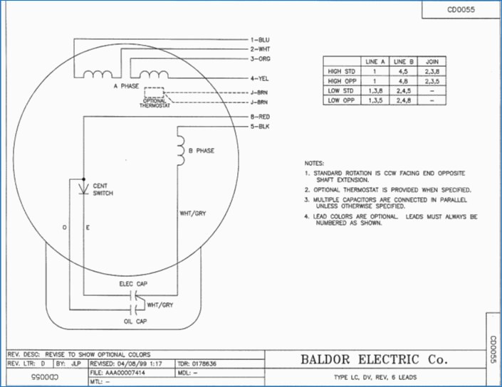baldor single phase 230v motor wiring diagram Collection-Baldor 3hp Single Phase Motor Wiring Diagram Dogboi Info que Electric 14-q