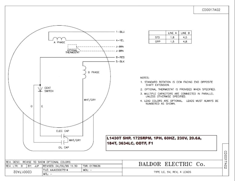 29 Baldor Single Phase Motor Wiring Diagram