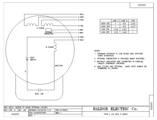 baldor single phase 230v motor wiring diagram Collection-Connection Diagram 20-q