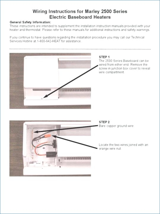 how to connect baseboard heater to thermostat