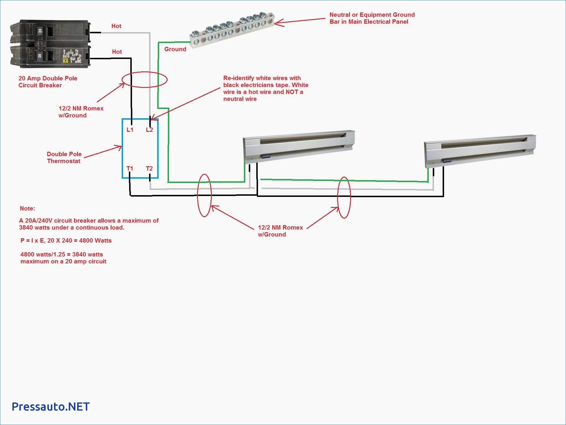 baseboard heater thermostat wiring diagram Download-Dayton Heater Wiring Diagram For B2network 15-t