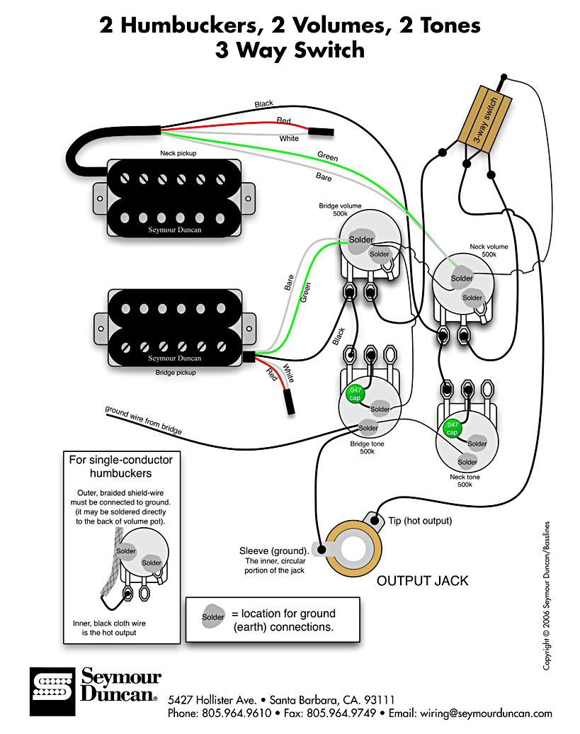 bass wiring diagram 2 volume 2 tone Download-Wiring Diagram for 2 humbuckers 2 tone 2 volume 3 way switch i e traditional LP set up find more at wiring diagrams 10-t