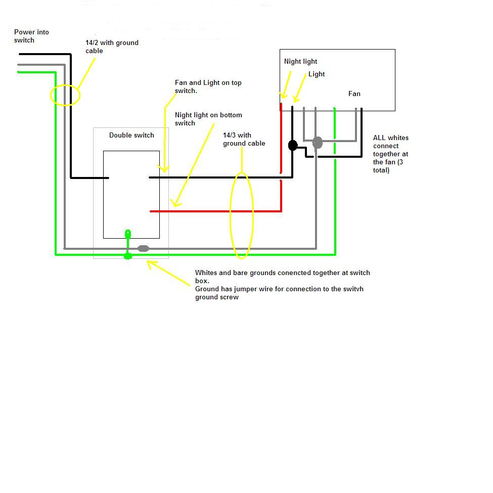 bathroom light wiring diagram Download-How To Wire Bathroom Fan WIRING DIAGRAM 11 18-g