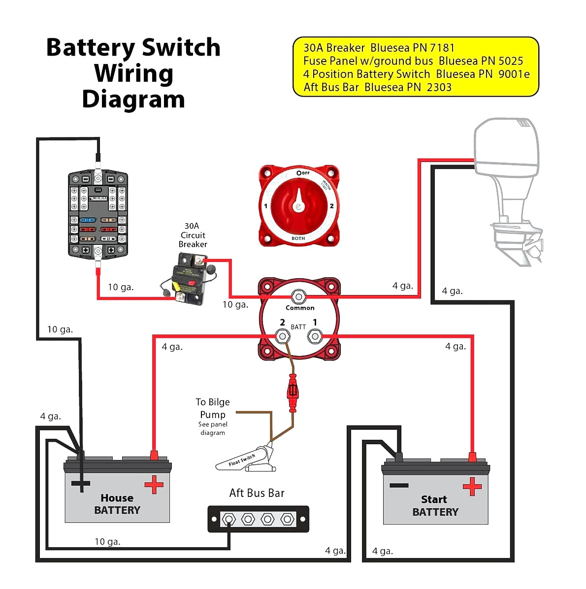battery isolator wiring diagram manufacturers Download-Marine Battery  Isolator Switch Wiring Diagram Disconnect Boat 19