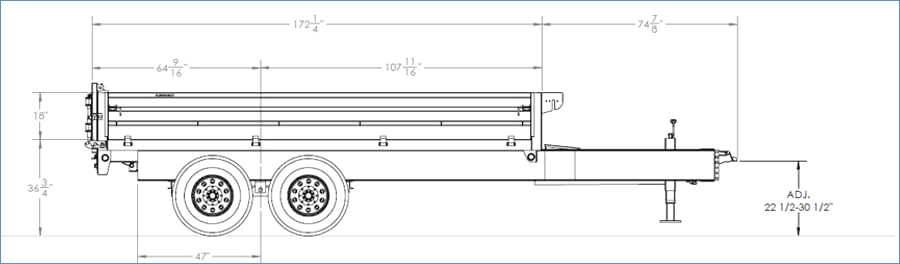 big tex dump trailer wiring diagram Collection-Big Tex Trailers 14od Gn Over the Axle Dump 1-k