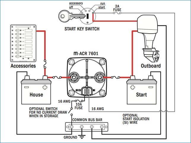 blue sea dual battery switch wiring diagram Collection-Blue Sea Dual Circuit Plus Battery Switch and Mini Automatic 7-n