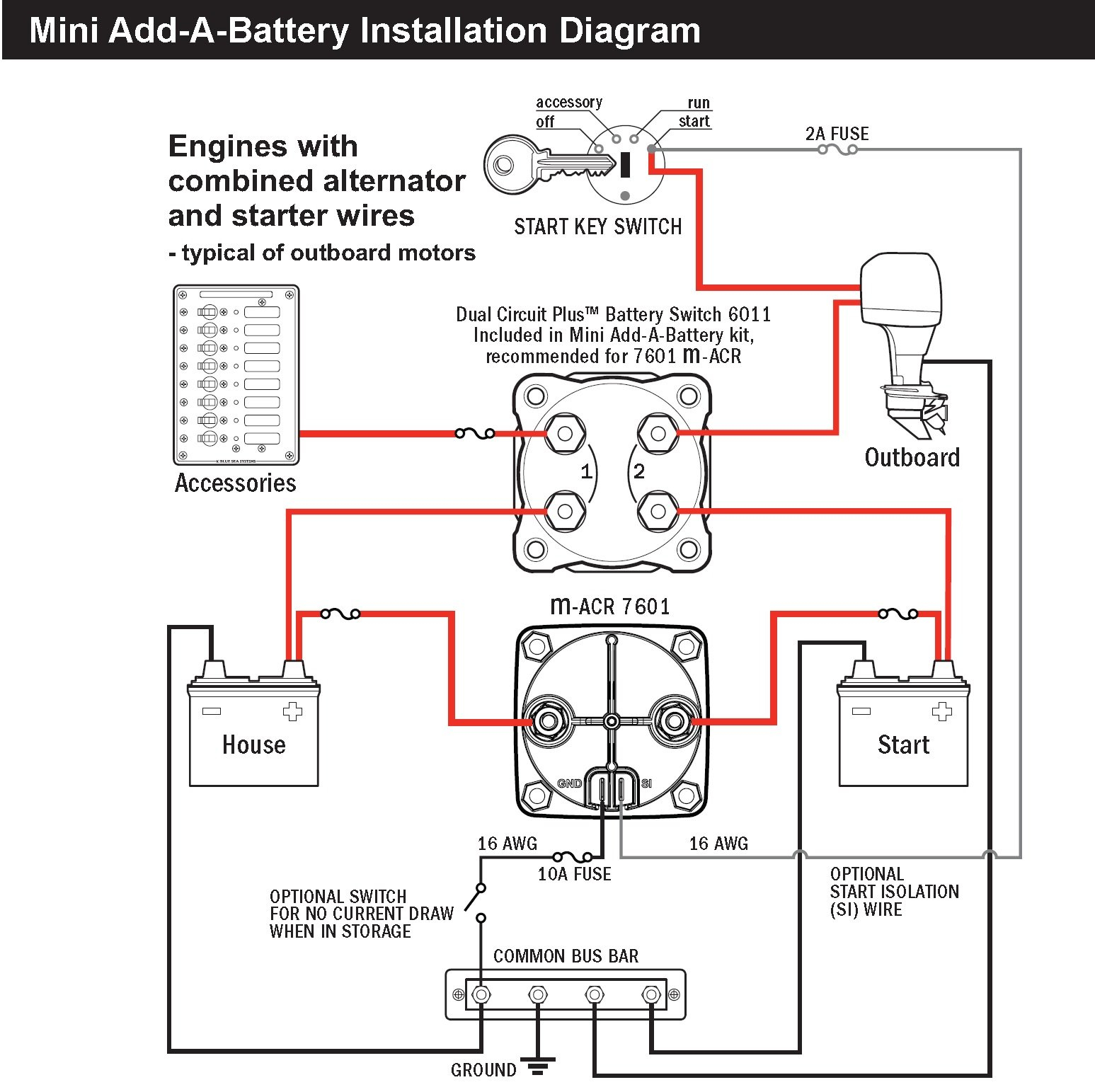blue sea dual battery switch wiring diagram Download-Sure Power Battery isolator Wiring Diagram Awesome Blue Sea 7601 Marine Vsr Acr Automatic Charge Relay 3-d