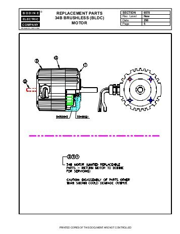 bodine electric dc motor wiring diagram Download-replacement parts 34b brushless bldc motor Bodine Electric 13-k