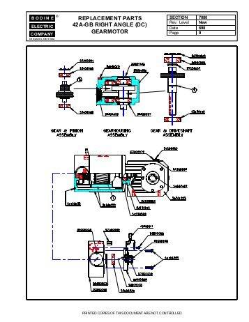 bodine electric dc motor wiring diagram Collection-replacement parts 42a gb right angle dc Bodine Electric pany 8-m