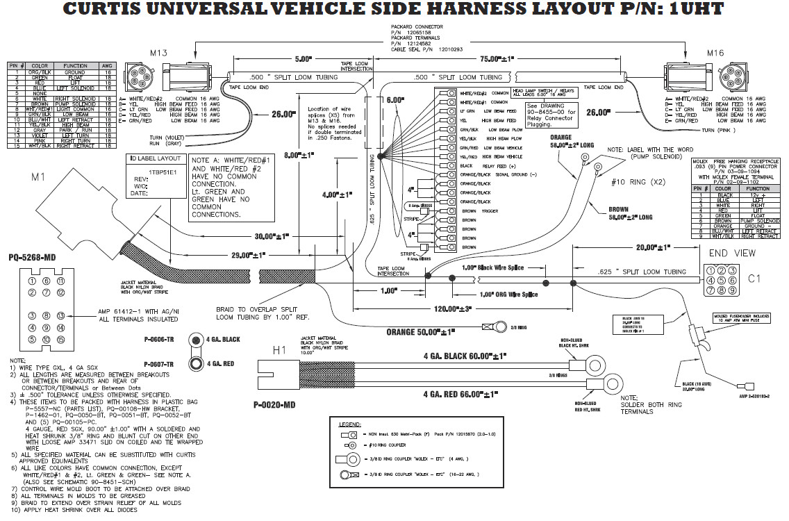 wiring diagram for a boss v plow