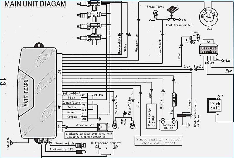 Mando Alarm Wiring Diagram - Schematic And Wiring Diagrams on