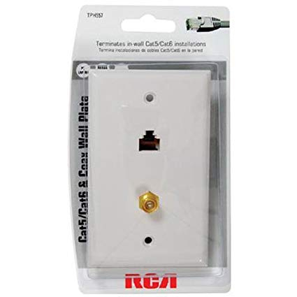 cat 5 wiring diagram wall jack Download-RCA Cat 5 6 F Connector Wall Plate TPH557R 6-s