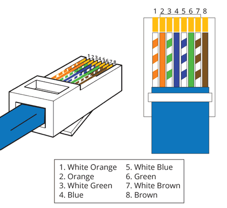 Cat 5 Wiring Diagram Wall Jack - Rj45 Wiring Connection when Wiring the Connector 12g