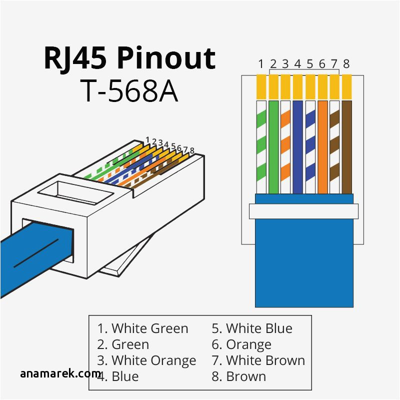 cat5 568a wiring data wiring diagrams u2022 rh webcompare co Network Wiring Guide Cat5 Wiring- Diagram Home