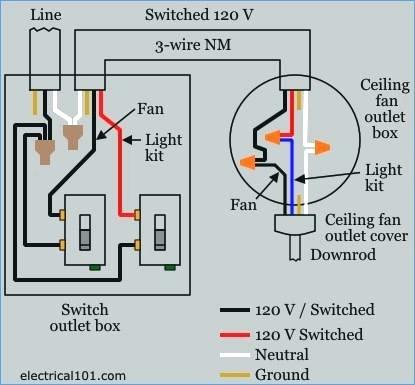 ceiling fan and light wiring diagram Download-ceiling fan light switch wiring diagram wiring 18-a