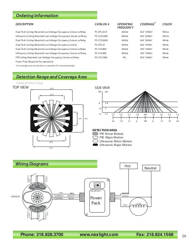 Ceiling Mount Occupancy Sensor Wiring Diagram Sample | Wiring ... on